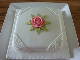 Rose Pillow Cake